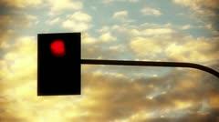 Traffic light against sky timelapse backgrounds Stock Footage