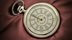 Old silver pocket watch Stock Footage