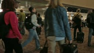 Stock Video Footage of Airport Phoenix Arizona crowd passengers at gate HD 3556