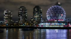 Time Lapse of Science World in Downtown Vancouver Stock Footage