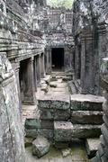 Stock Photo of inside bayon temple