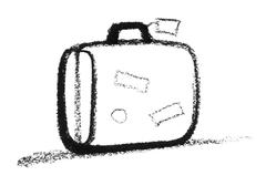 sketched suitcase - stock photo