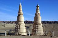 Stock Photo of two stupas