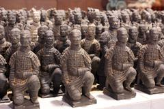 Stock Photo of terracota warriors on sale