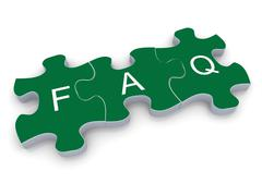 3d faq puzzle - stock illustration