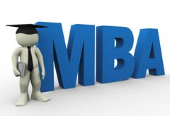 Stock Illustration of master of business administration