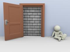 Stock Illustration of 3d man no escape