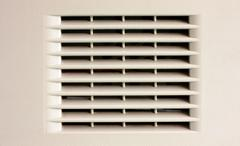 Gray ventilation grille Stock Photos