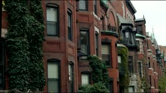 Victorian Brownstones Boston - stock footage