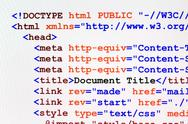 Html web page code front view Stock Illustration