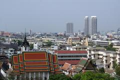 wat and bangkok - stock photo