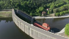 Aerial view of Hydroelectric Plant in Pilchowice by HeliDog_Aerials Stock Footage