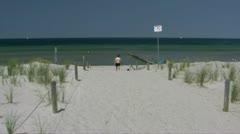 Beautiful Beach on Poel Island - Baltic Sea, Northern Germany Stock Footage