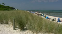 Beautiful Beach in Graal-Müritz - Baltic Sea, Northern Germany Stock Footage