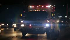 Ambulance speeding in highway Stock Footage