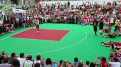 Streetball show Stock Footage