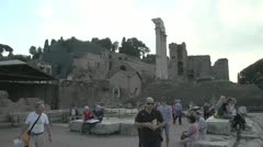History & culture, roman ruins and tourists Stock Footage