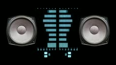 Music graphic equalisers speakers Stock Footage