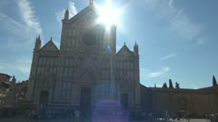 Florence, cathedral chatolic.Dome. Stock Footage