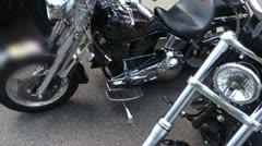 Motorcycles on street motor bike Stock Footage