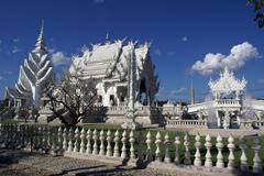 white temple - stock photo