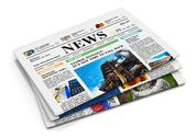 Stack of newspapers Stock Illustration