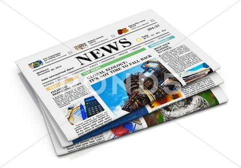 Stock Illustration of Stack of newspapers