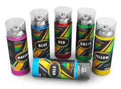 Stock Illustration of Spray paint cans