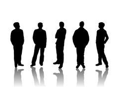 man silhouette - stock illustration