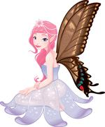Stock Illustration of young fairy.