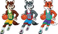 Stock Illustration of basketball mascots.