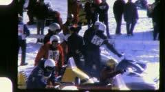 Snowmobile RACE Racing Sport 1960s Vintage Film Retro Home Movie 5613 Stock Footage