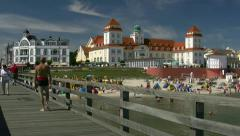 Seaside Resort Town Binz on Rügen Island - Baltic Sea, Northern Germany Stock Footage