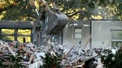 Home Demolished Stock Footage
