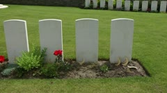 Graves of Indian soliders killed in Flanders during WW1 Stock Footage