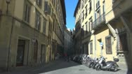 Street in Florence, Italy. Stock Footage