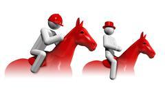 Stock Illustration of equestrian eventing 3d symbol