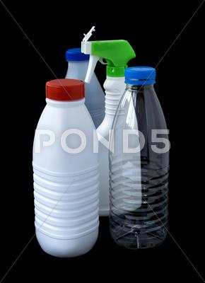Stock photo of plastic bottles