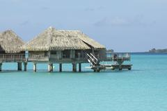 Stock Photo of over water bungalows