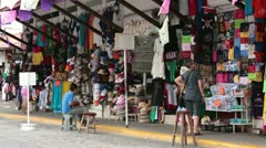 Mexican market sales stores tourism Mexico HD 3687 Stock Footage