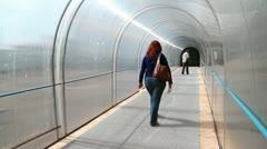 People inside tunnel Stock Footage