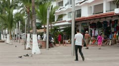 Puerto Vallarta Mexico boardwalk shops HD 3699 Stock Footage