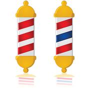 barber pole - stock illustration