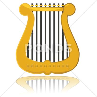 Stock Illustration of glossy harp