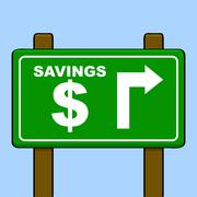 savings - stock illustration