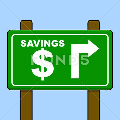 Stock Illustration of savings