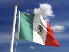 Mexico flag (with clipping path) Stock Illustration