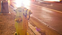 4k Motion Control Time Lapse Street Traffic, Fire Hydrant UHD Stock Footage