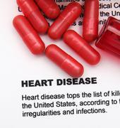 heart disease concept - stock illustration
