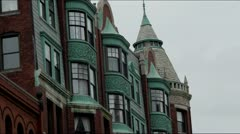 Victorian Style Brownstones Boston Stock Footage